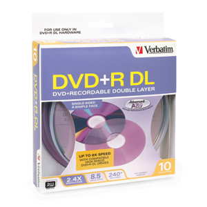 Verbatim	Verbatim DVD+R Double Layer Solution Kit