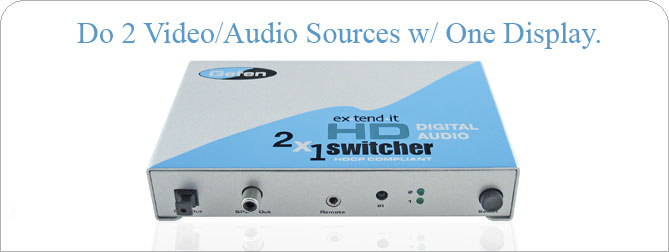2x1 HD Digital Audio Switcher  - EXT-HD-241A