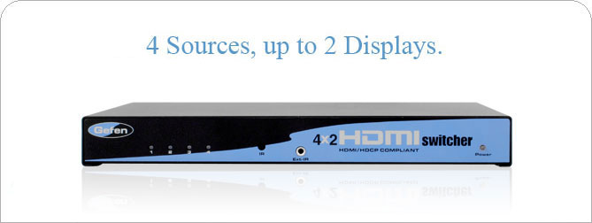 4x2 HDMI Switcher - Black - EXT-HDMI-442-BLK