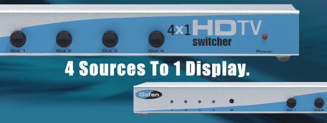 4x1 HDTV Switcher - EXT-HDTV-441N