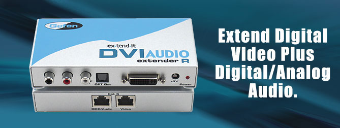 DVI Audio Extender - EXT-DVI-AUDIO-CAT5