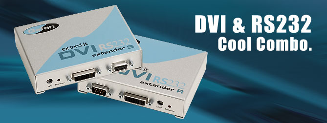 DVI RS232 extender - EXT-DVIRS232-CAT5