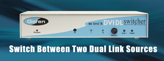 2x1 DVI DL Switcher - EXT-DVI-241DL