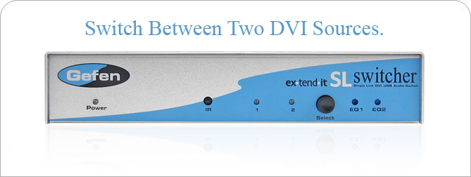 2x1 DVI SL Switcher - EXT-DVI-241SL