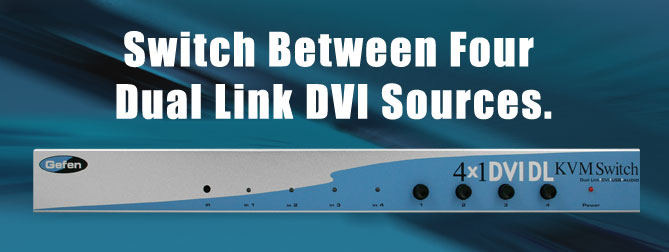 4x1 DVI DL Switcher (Serial Control) - EXT-DVI-441