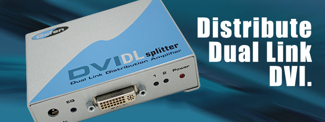 1x2 DVI DL Splitter - EXT-DVI-142DL