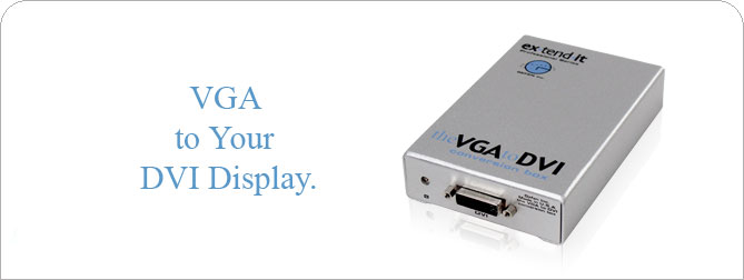 VGA to DVI Conversion Box  - EXT-VGA-2-DVI