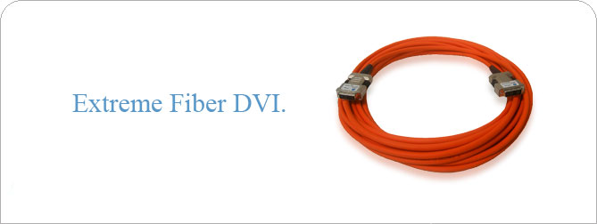 HDTV DVI-D Fiber Optic Cable 75 ft (M-M)