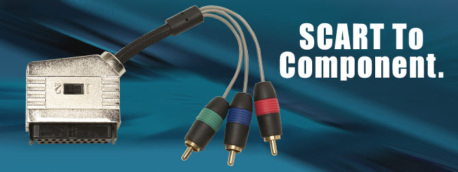 SCART Female to Component Male Adapter