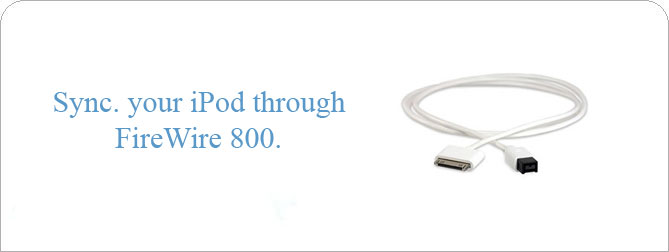 Dock to Firewire 800 Cable